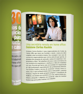 Deisiane Z. Kukla Secretária Remota é destaque no Ebook da GoHome.